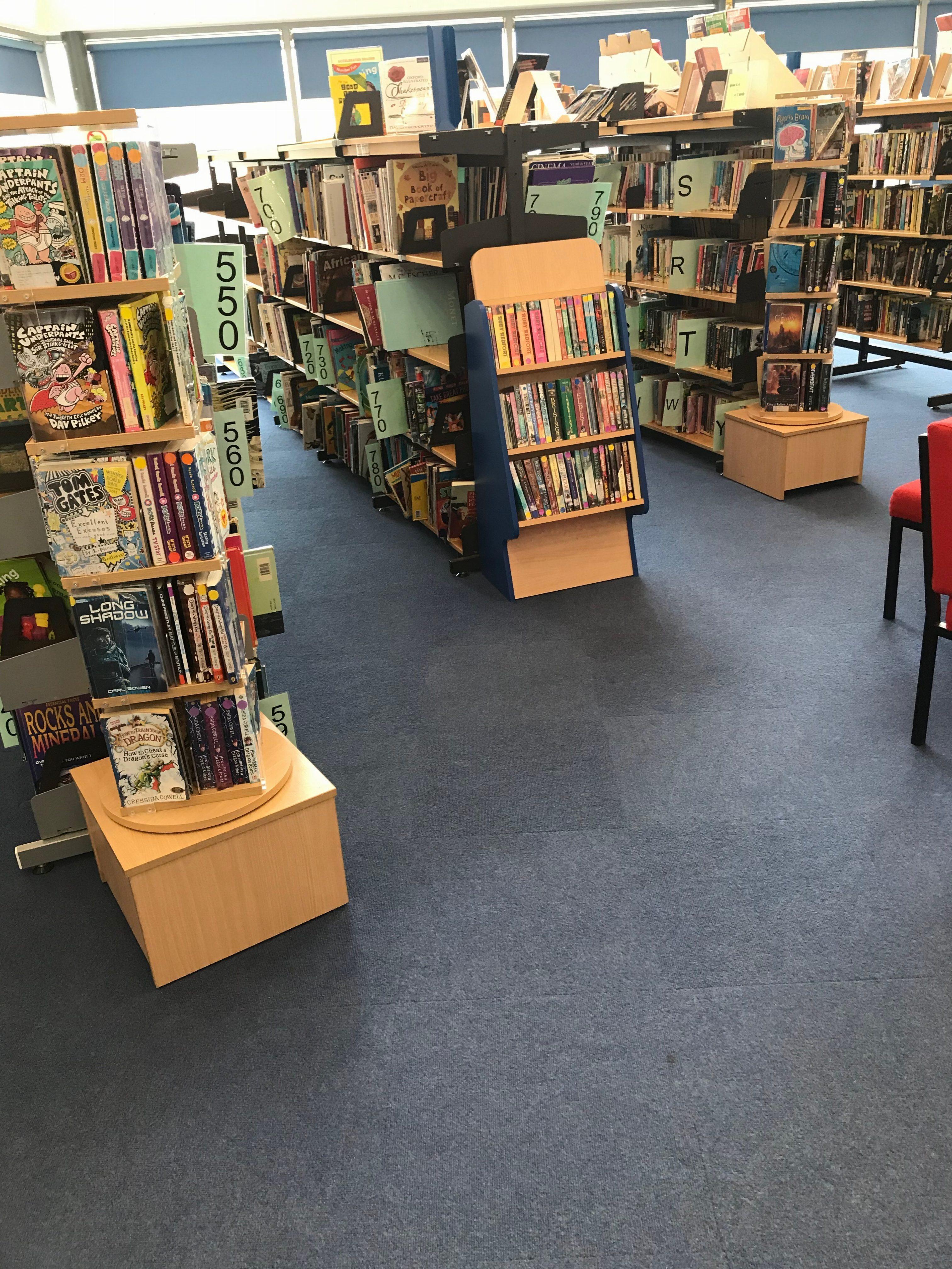 Blue Carpet Tiles to BMA School Fishponds 2